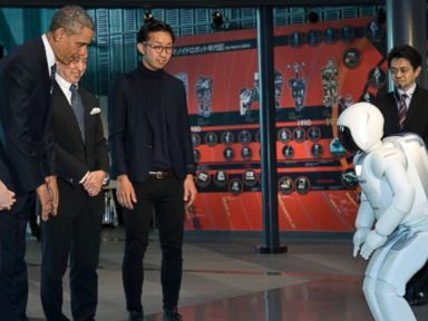 Obama Has 'Scary' Encounter With Humanoid Robot
