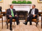 PHOTO: President Barack Obama meets with House Speaker John Boehner of Ohio in the Oval Office of the White House in Washington, Feb. 25, 2014.