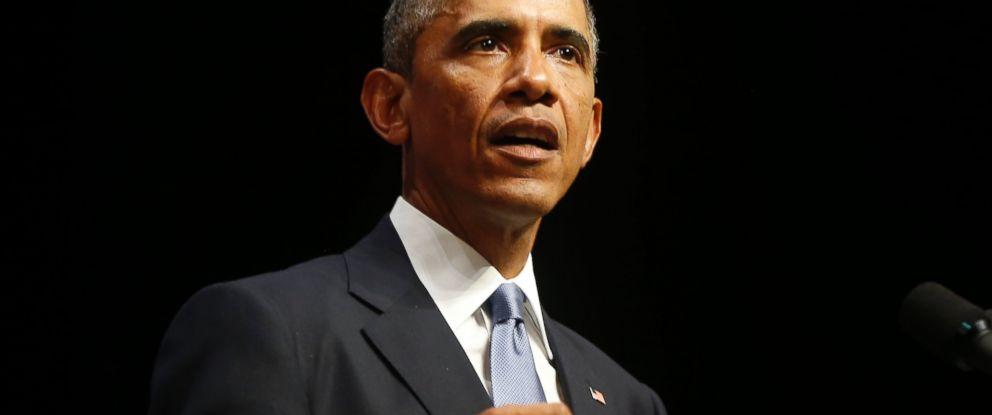 PHOTO: President Barack Obama speaks at Nordea Concert Hall in Tallinn, Estonia, in this Sept. 3, 2014 file photo.