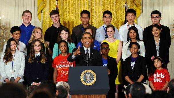 AP obama science fair jef 140527 16x9 608 President Obama Unleashes His Inner Nerd at White House Science Fair