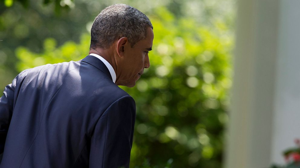 PHOTO: In this Aug. 31, 2013, file photo President Barack Obama leaves the Rose Garden at the White House in Washington, after stating that United States should take military action against Syria in response to a deadly chemical weapons.