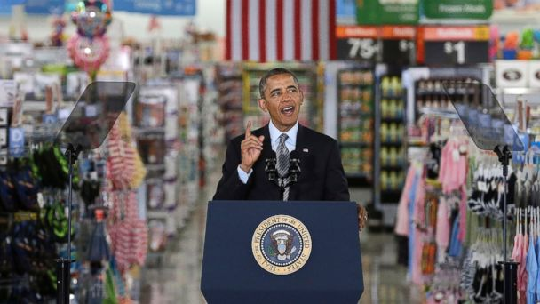AP obama walmart jef 140509 16x9 608 Obama Unveils Plan to Tackle Climate Change, Walmart Speech Location Draws Criticism