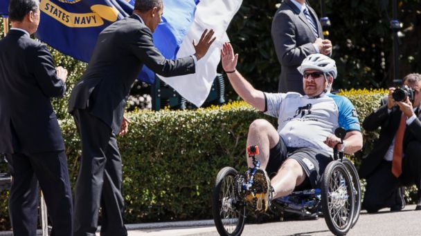 AP obama wounded warriors jef 140417 16x9 608 Obama Tells Wounded Warriors They Are Inspiration