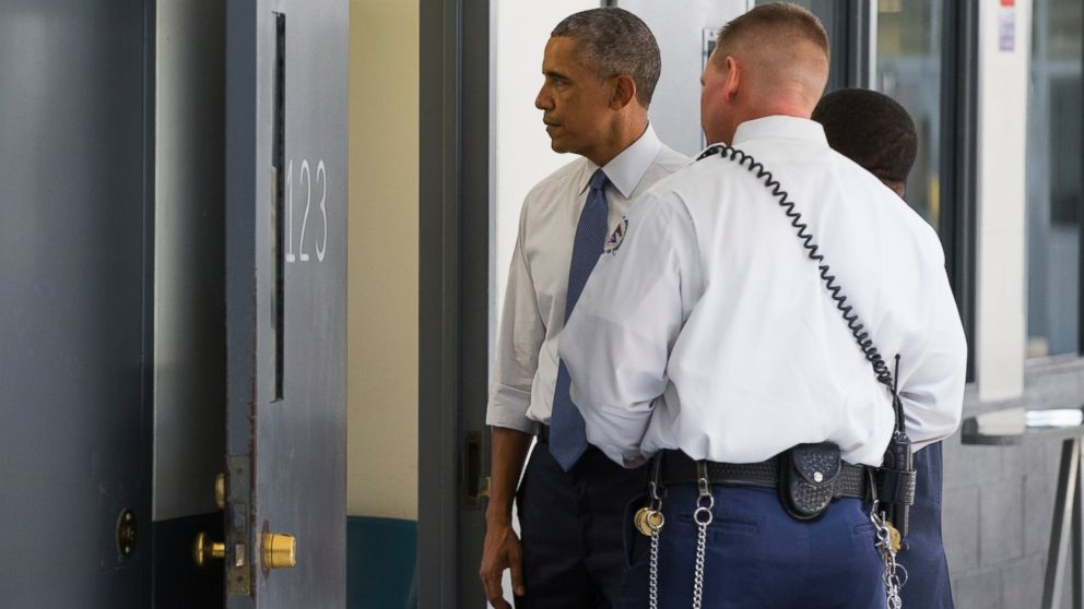 What president obama saw when he visited a federal prison for Bureau uniform