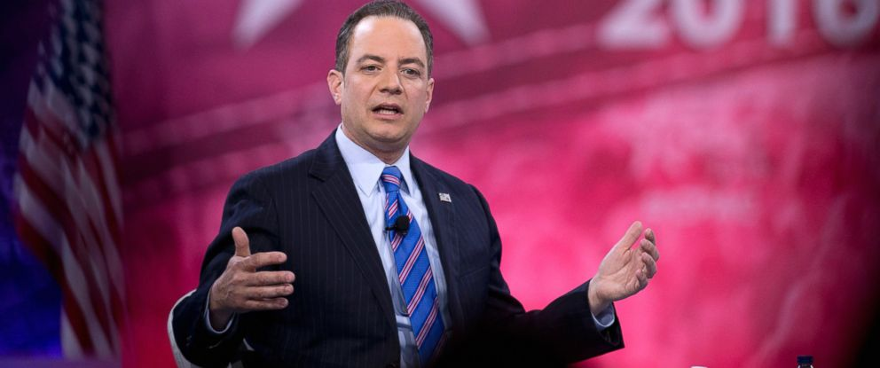 PHOTO:Republican National Committee Chairman Reince Priebus speaks during the Conservative Political Action Conference, March 4, 2016, in National Harbor, Md.