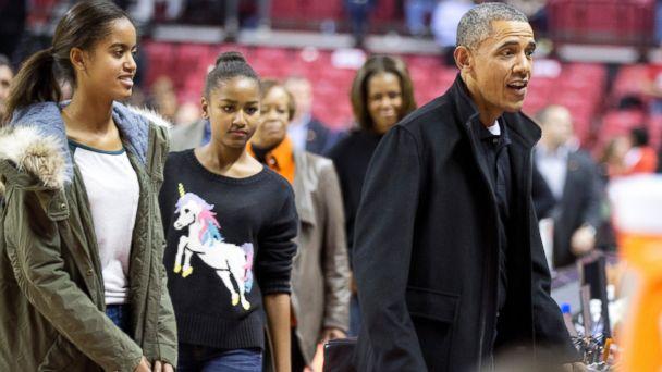 AP sasha obama jef 131118 16x9 608 Sasha Obamas Sold Out Unicorn Sweater Is a Fashion Hit