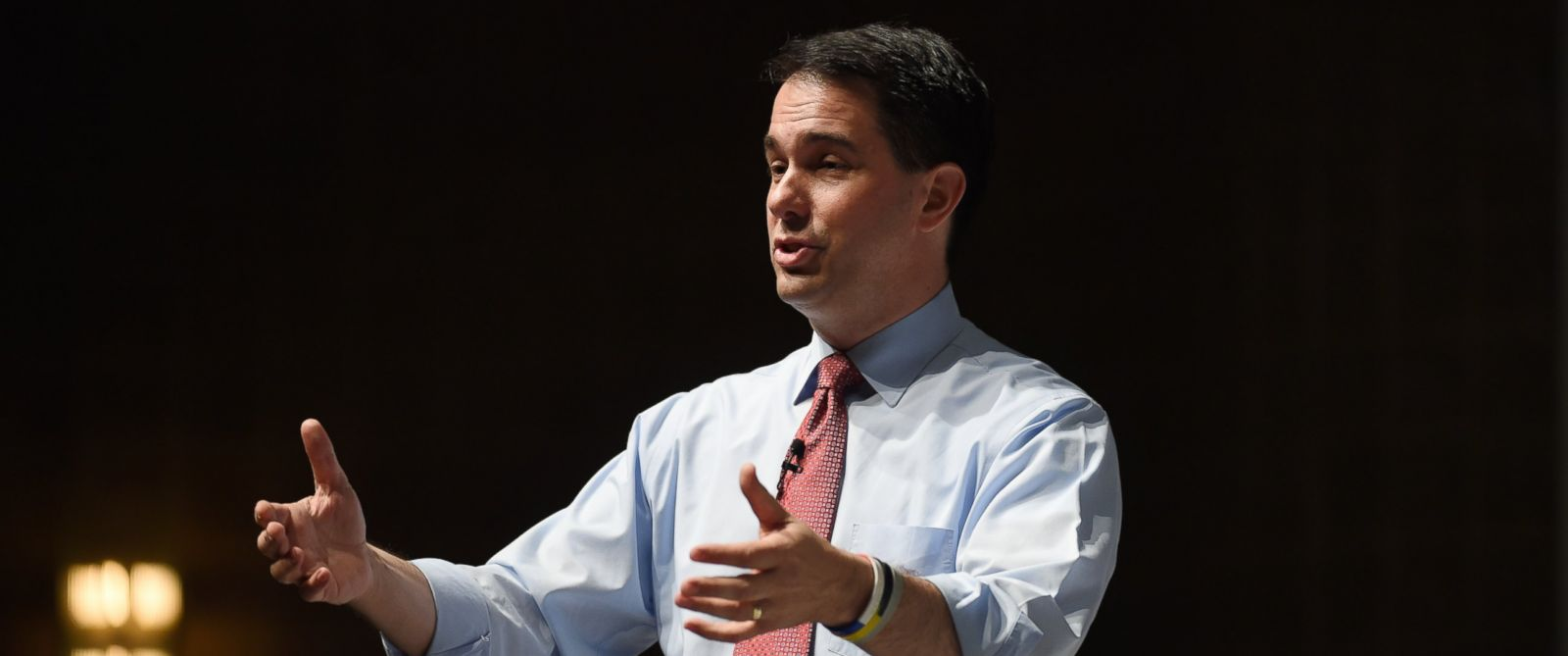 PHOTO: Wisconsin Gov. Scott Walker speaks at the Freedom Summit, Saturday, May 9, 2015, in Greenville, S.C.