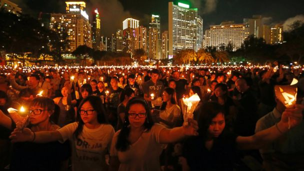AP tiananmen vigil jtm 140604 16x9 608 Crowds Gather in Hong Kong to Mark 25th Anniversary of Tiananmen Massacre
