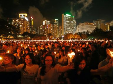 Crowds Gather to Mark Anniversary of Tiananmen Massacre