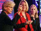PHOTO: Former Michigan Gov. Jennifer Granholm, left, speaks at a town hall with Emilys List president Stephanie Schriock, center, and Tiffany Eddy.