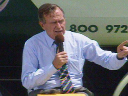 Video of President George Herbert Walker Bush on the stump in 1992.