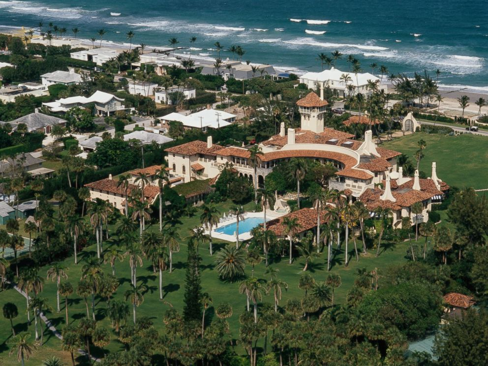PHOTO: The Mar-a-Lago Estate, owned by Donald Trump, lies at the waters edge in Palm Beach, Fla. is pictured here on April 2, 1991.