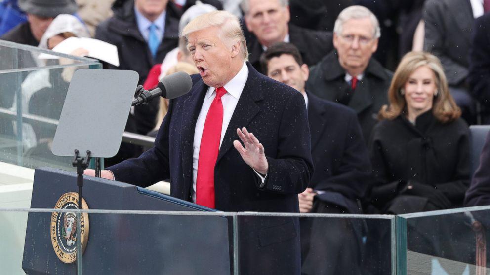 politics trump inaugural address