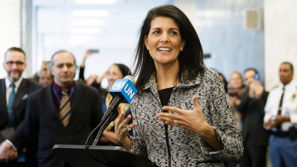 Nikki Haley Vows to 'Take Names' of Nations Opposing U.S.