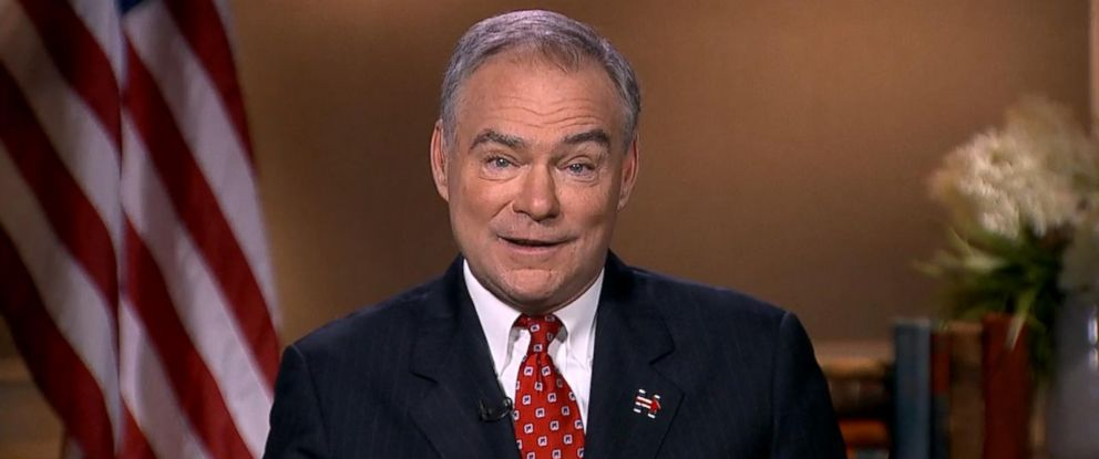 """PHOTO: Tim Kaine appeared on """"Good Morning America,"""" Sept. 1, 2016."""