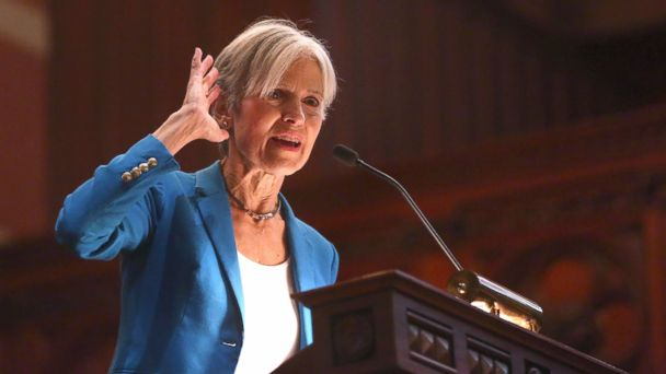 PHOTO: Dr. Jill Stein, Green Party presidential candidate, speaks as a rally at Old South Church in Boston, on Oct. 30, 2016.