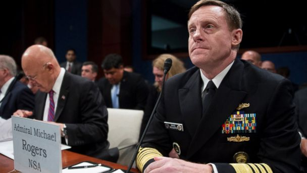 Admiral Michael Rogers, director of the National Security Agency, right, at a House Intelligence Committee in Washington, D.C., in this Sept. 10, 2015.
