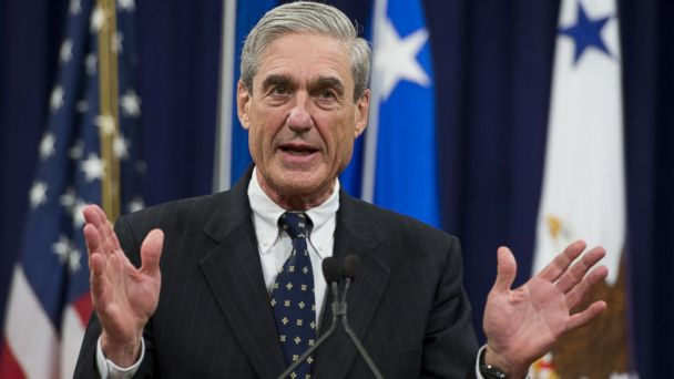 PHOTO: Robert Mueller speaks during a farewell ceremony in his honor at the Department of Justice on August 1, 2013. Mueller retired from the FBI after 12-years as Director.