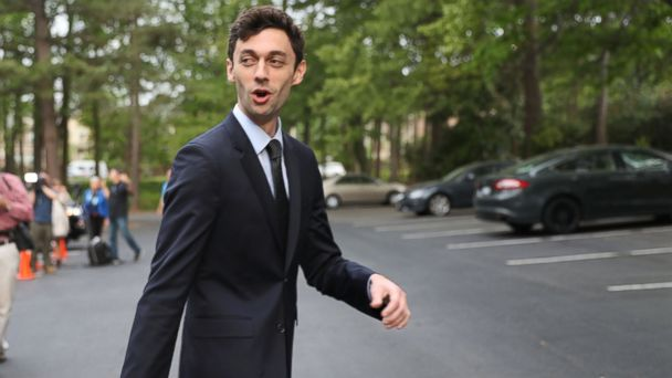 PHOTO: Democratic candidate Jon Ossoff walks to his vehicle after speaking with supporters at an election day kickoff rally as he runs for Georgia's 6th Congressional District in a special election to replace Tom Price, April 18, 2017 in Atlanta, Georgia.