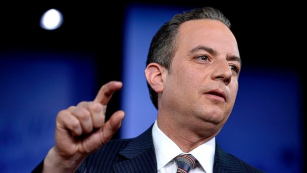 PHOTO: White House Chief of Staff Reince Priebus makes remarks during a discussion at the Conservative Political Action Conference at National Harbor, Maryland, Feb. 23, 2017.