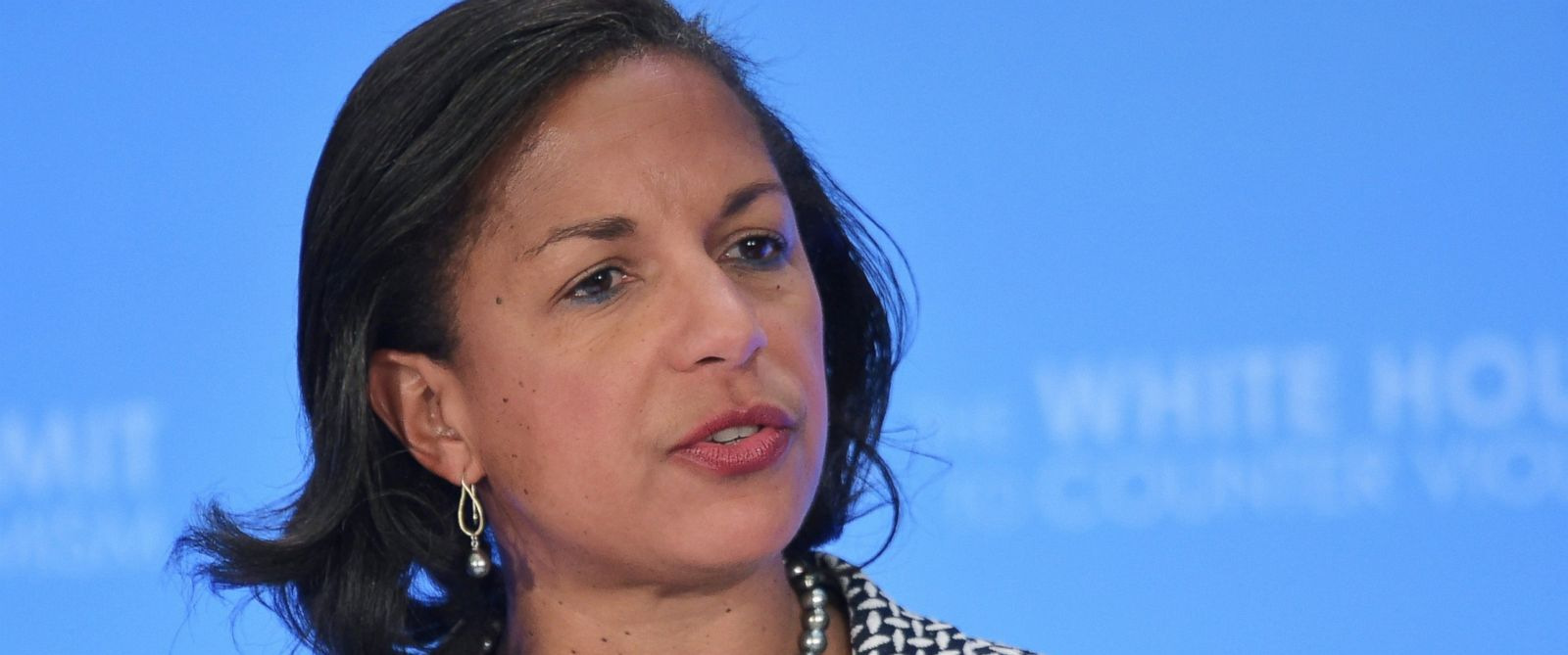 Susan Rice, the former U.S national security adviser, speaks during the closing session of the White House Summit to Counter Violent Extremism at the State Department in Washington, D.C., when she was the U.S. national security adviser, Feb. 19, 2015.