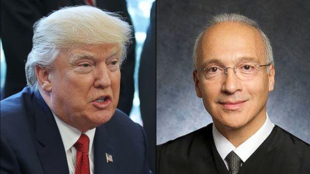 PHOTO: President Donald Trump, and U.S. District Judge Gonzalo Curiel.
