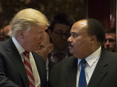 Trump Meets With Martin Luther King Jr.'s Son