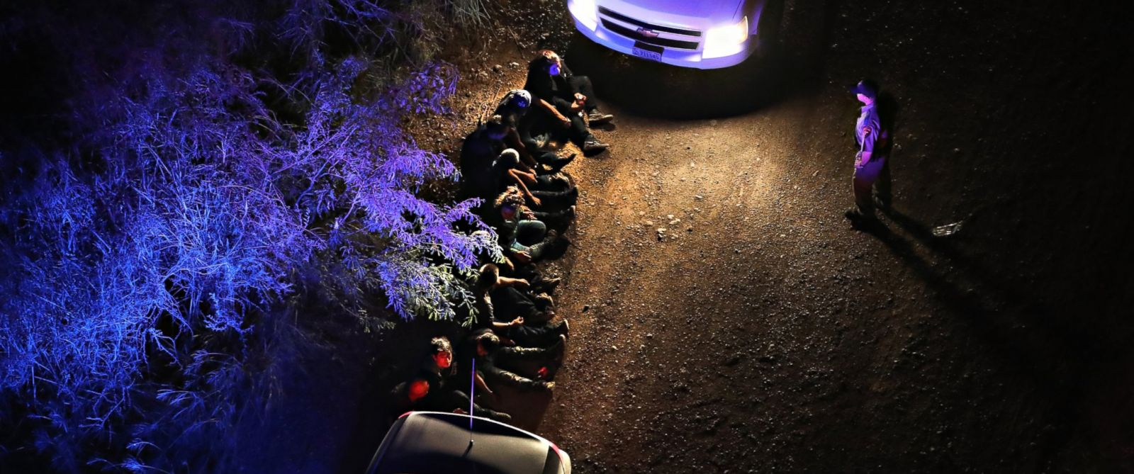 PHOTO: U.S. Border Patrol agents take undocumented immigrants into custody after they crossed the Rio Grande from Mexico into Texas, Aug. 18, 2016, near Sullivan City, Texas.