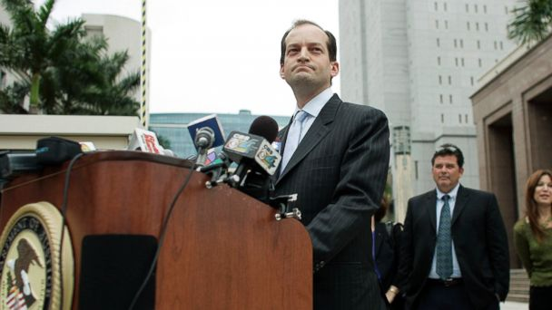 PHOTO: Alexander Acosta speaks to the media, Feb. 27, 2007, in Miami, Florida.