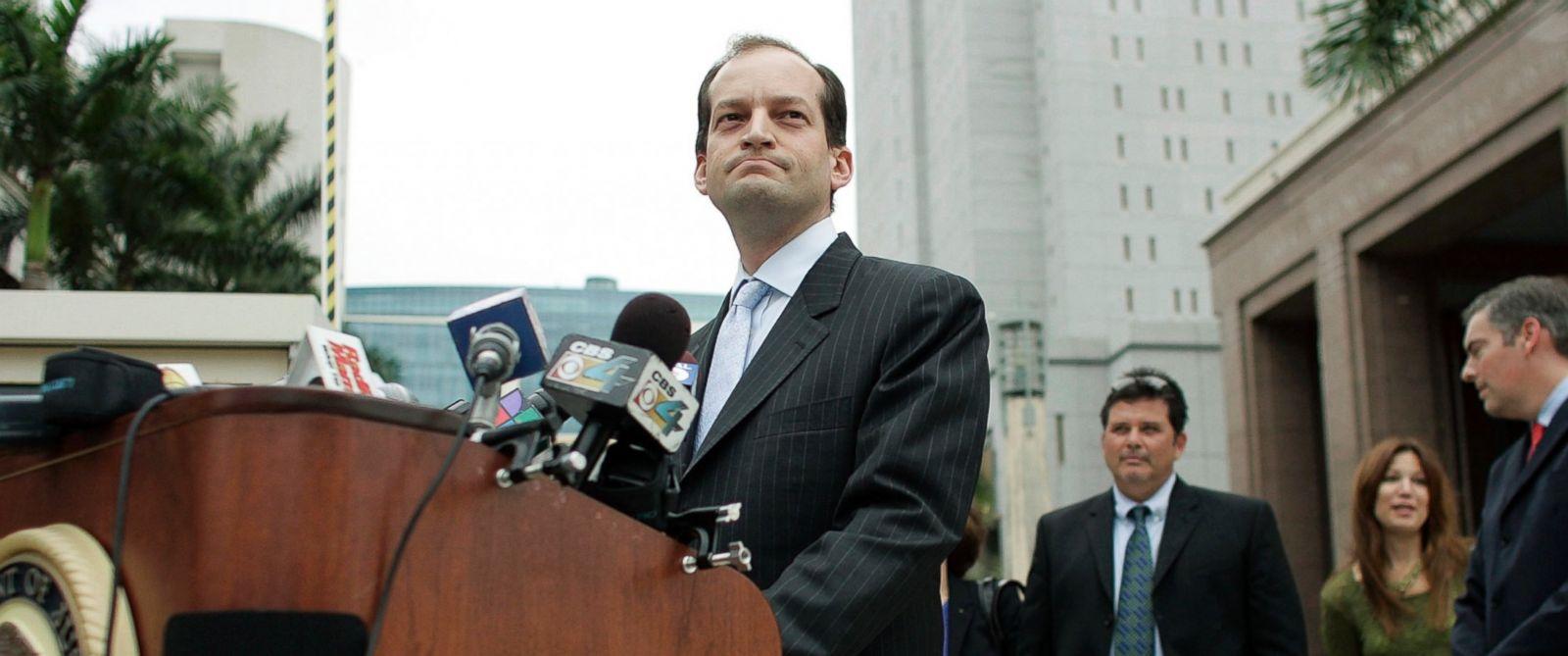 PHOTO: Alexander Acosta speaks to the media, Feb. 27, 2007, in Miami, Florida.