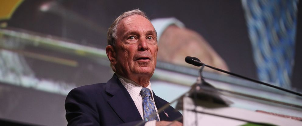 PHOTO: Michael R. Bloomberg speaks onstage during the Sierra Clubs 125th Anniversary Trail Blazers Ball at Innovation Hangar, May 18, 2017, in San Francisco.