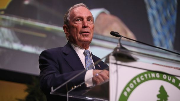 PHOTO: Michael R. Bloomberg speaks onstage during the Sierra Club's 125th Anniversary Trail Blazer's Ball at Innovation Hangar, May 18, 2017, in San Francisco.