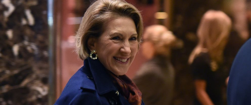 PHOTO: Carly Fiorina arrives for meetings with President-elect Donald Trump, Dec. 12, 2016 in New York.