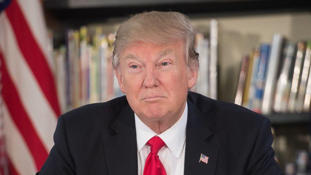 PHOTO: President Donald Trump at Saint Andrew Catholic School in Orlando, Fla., on March 3, 2017.