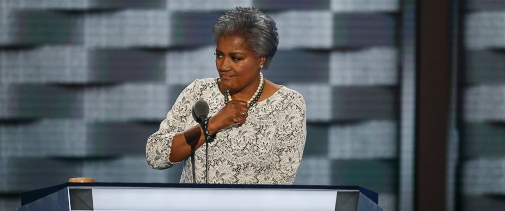 PHOTO: Donna Brazile speakS at the 2016 Democratic National Convention, in Philadelphia, July 26, 2016.