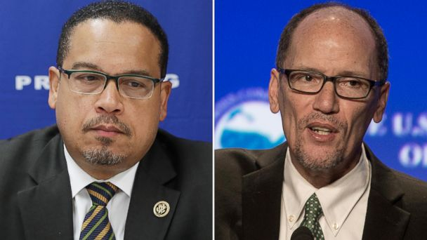 PHOTO: Keith Ellison, left, and Tom Perez hope to be the new chair of the Democratic National Committee.