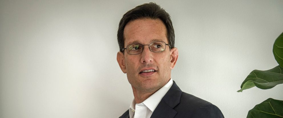 PHOTO: Eric Cantor, the former House Majority Leader, at his new office at Morelis, June, 8, 2016, in Washington, DC.