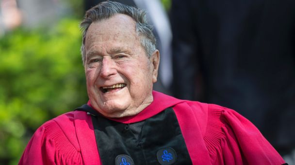PHOTO: Former President George H. W. Bush receives an honorary doctorate during Harvard University's 363rd commencement ceremony in Cambridge, Massachusetts, May 29, 2014.