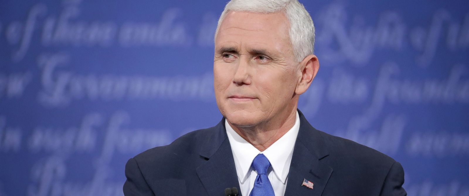 PHOTO: In this file photo, Republican vice presidential nominee Mike Pence is pictured during the Vice Presidential Debate with Democratic vice presidential nominee Tim Kaine at Longwood University, Oct. 4, 2016 in Farmville, Virginia.