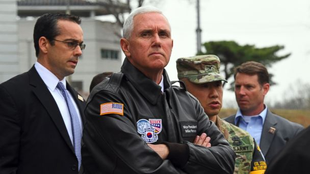 PHOTO: Vice President Mike Pence visits the truce village of Panmunjom in the Demilitarized Zone (DMZ) on the border between North and South Korea, April 17, 2017.