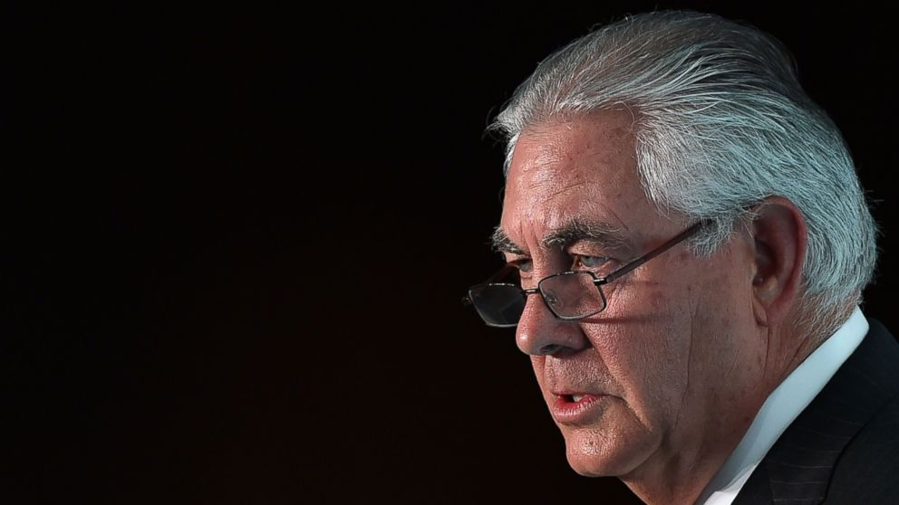 PHOTO: This file photo taken on October 7, 2015, shows Chairman and CEO of ExxonMobil, Rex Tillerson, during the 2015 Oil and Money conference in central London.