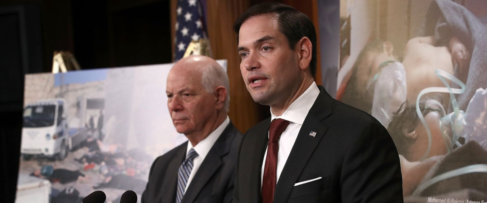 PHOTO: Sen. Marco Rubio speaks during a press conference at the U.S. Capitol, April 5, 2017, in Washington.