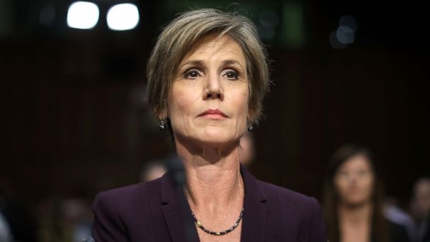 PHOTO: Former acting U.S. Attorney General Sally Yates testifies before the Senate Judicary Committee's Subcommittee on Crime and Terrorism in the Hart Senate Office Building on Capitol Hill, May 8, 2017 in Washington, D.C.