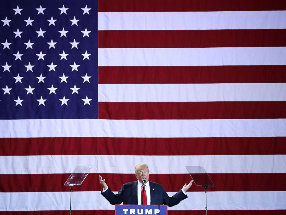 PHOTO: Donald Trump addresses a campaign rally, Oct. 31, 2016, in Grand Rapids, Mich.