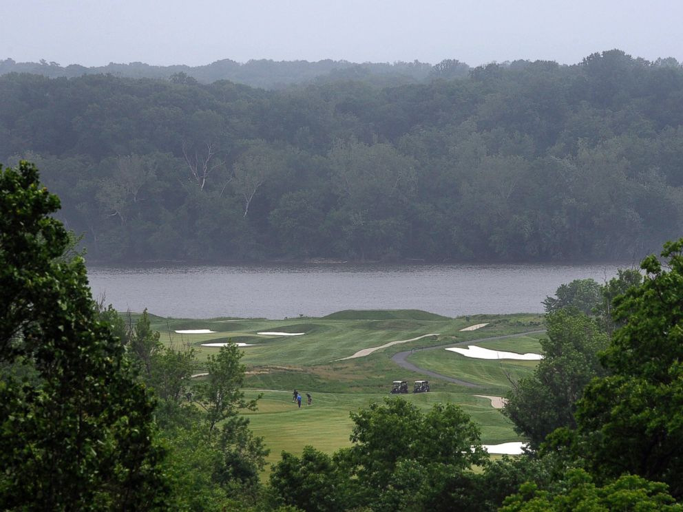 PHOTO: A view of the Trump National Golf Club golf course is seen from the upper deck of the clubhouse, May 13, 2010.