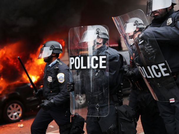 At Least 217 Arrested Amid Trump Inauguration Day Protests