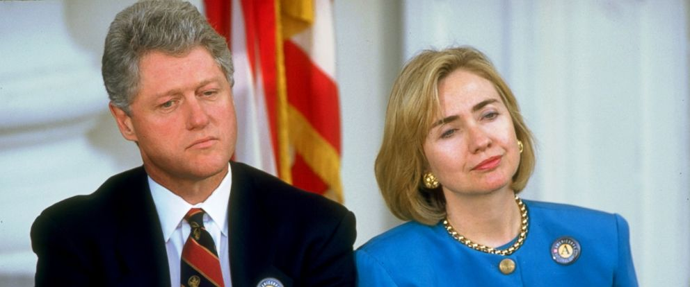 PHOTO: President Bill Clinton and First Lady Hillary Rodham Clinton, together during a White House event, September 12, 1994.