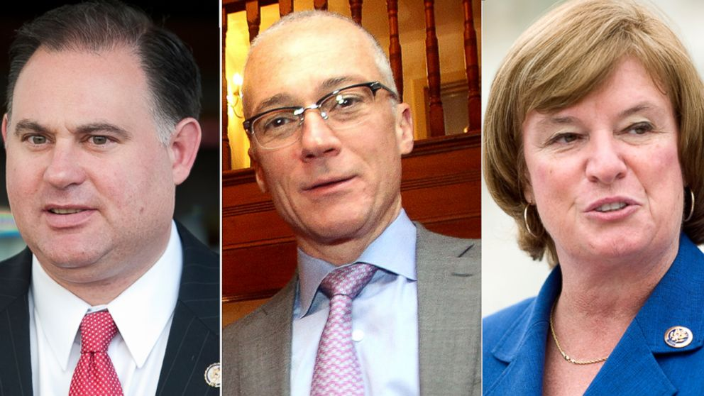 PHOTO: Republican former Rep. Frank Guinta (left), Republican Dan Innis (center) and Democrat Rep. Carol Shea-Porter (right) are running for for New Hampshires first congressional district, a seat that changed party hands in both 2010 and 2012.
