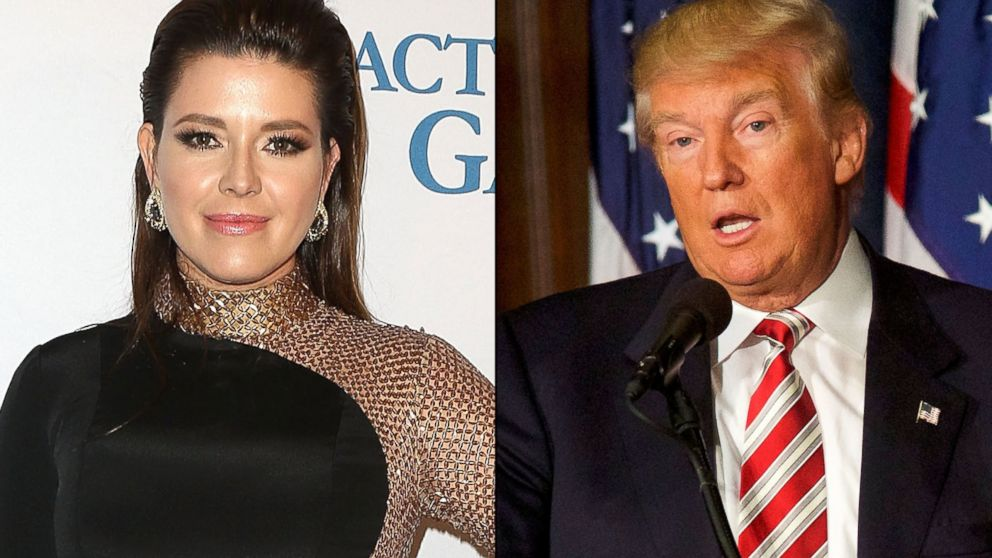 PHOTO: Former Miss Universe, Alicia Machado, on Feb. 26, 2016, in Beverly Hills, California | Republican Presidential nominee Donald J. Trump, on Sept. 7, 2016, in Philadelphia.