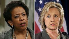PHOTO: U.S. Attorney General Loretta Lynch | Democratic presidential hopeful Hillary Rodham Clinton